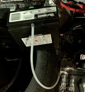 Tubing setup aftermarket AUX battery replacement