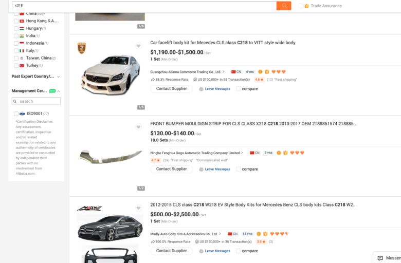 Check out Alibaba and Model Specific Facebook Groups for an Idea of Body Kits and Mods Available