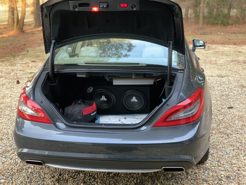 Subwoofers in a Mercedes