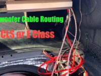 Subwoofer Cable Management in Trunk