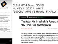 CLS & AMG GT AXED!  No AMG V8's in 2022? 1000hp AMG V8 Hybrid Debuts in Aston Martin.